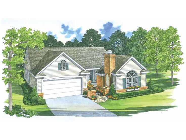 Cottage Style 1 story 4 bedrooms(s) House Plan with 1418 total square feet and 3 Full Bathroom(s) from Dream Home Source House Plans