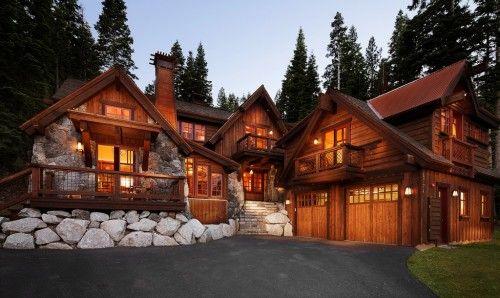 perfect log cabin..Dreams Home, Lakes Tahoe, Dreams House, Traditional Exterior, Los Angels, Mountain Home, Logs Home, Mountain House, Logs Cabin