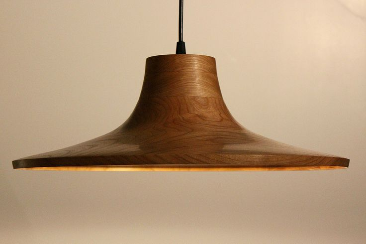 The Mesa Pendant represents warm west coast elegance by Ben Burnett, turned from solid cherry. $680  Available at Kozai Modern #westcoast #lighting