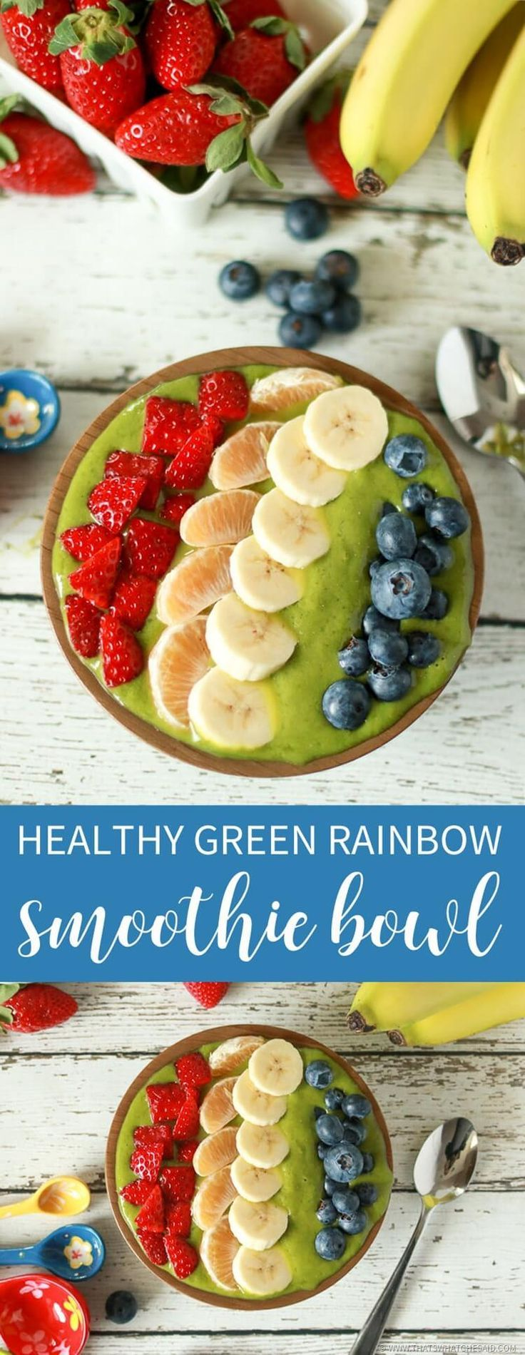Get on track this year with this healthy green smoothie bowl. Hidden veggies that taste like a tropical rainbow!  Grab a spoon! Everything you need at the best prices can be found at ALDI.  Healthy eating does not need to break your budget!  #ad #ILikeALDI