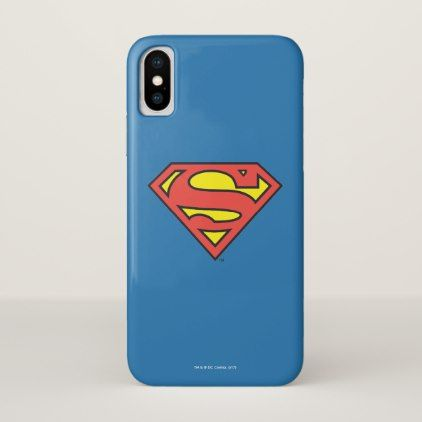 #Superman S-Shield | Superman Logo iPhone X Case - #warner #brothers #movies & #comics #warnerbrothers
