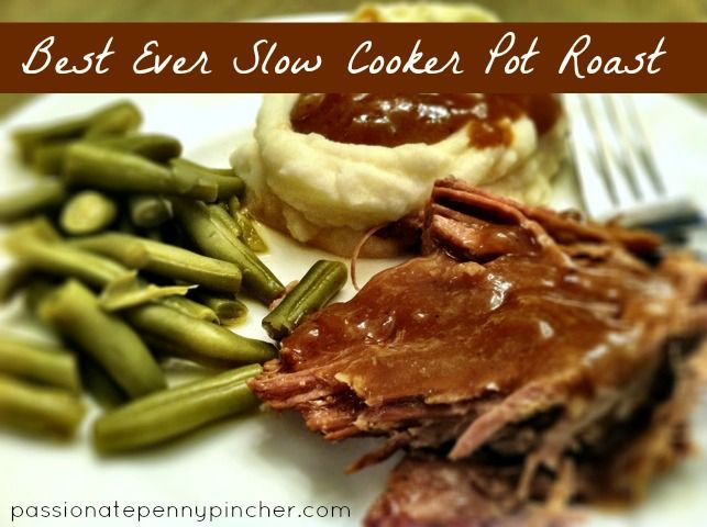 Slow Cooker Pot Roast {25 Days of Slow Cooking} ~ seriously the best slow cooker roast you will ever put in your mouth.