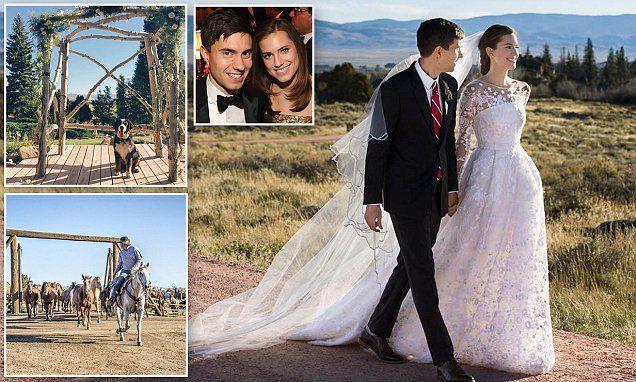Allison Williams ties the knot with Ricky Van Veen | Oscar de la Renta gown
