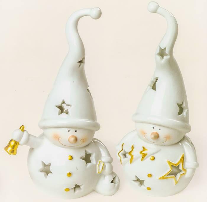 Suport decorativ lumânare 210 -Om de zăpadă  Suport candelă din porţelan în formă de om de zăpadă poate fi un cadou simbolic şi frumos pentru sărbătorile de iarnă.  http://ift.tt/2gsFg4f