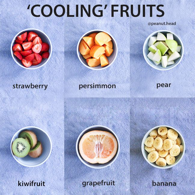 Cooling Foods Infographic Fruit Edition In Regards To Tcm Cooling Foods Nourish The Yin In Our Bodies We Can