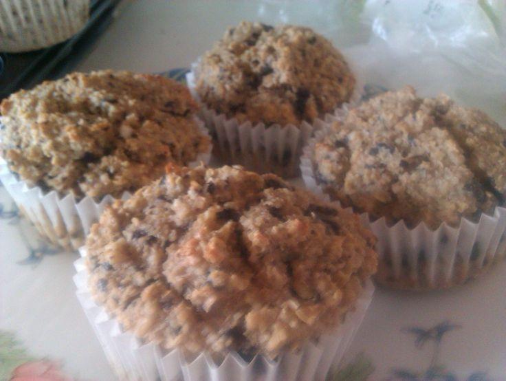Túrós zabkorpás csokis muffin