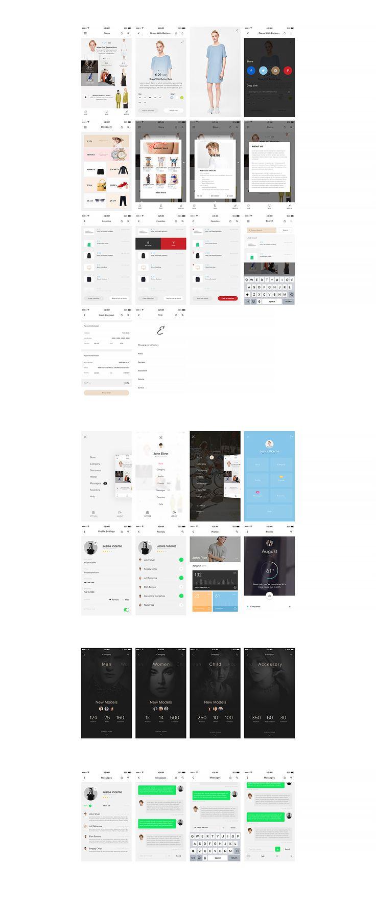 Elegance iOS UI Kit on Behance