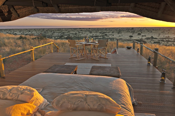 Sleep out in the Kalahari desert at Tswalu Reserve. http://www.go2africa.com/accommodation/298/at-a-glance/motse-lodge