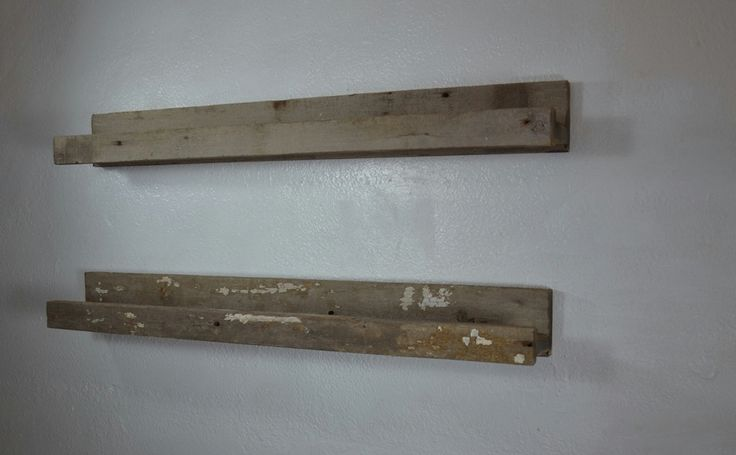 Picture ledge shelf brown and gray reclaimed wood 36 wide shabby chic and rustic. Pair!!!