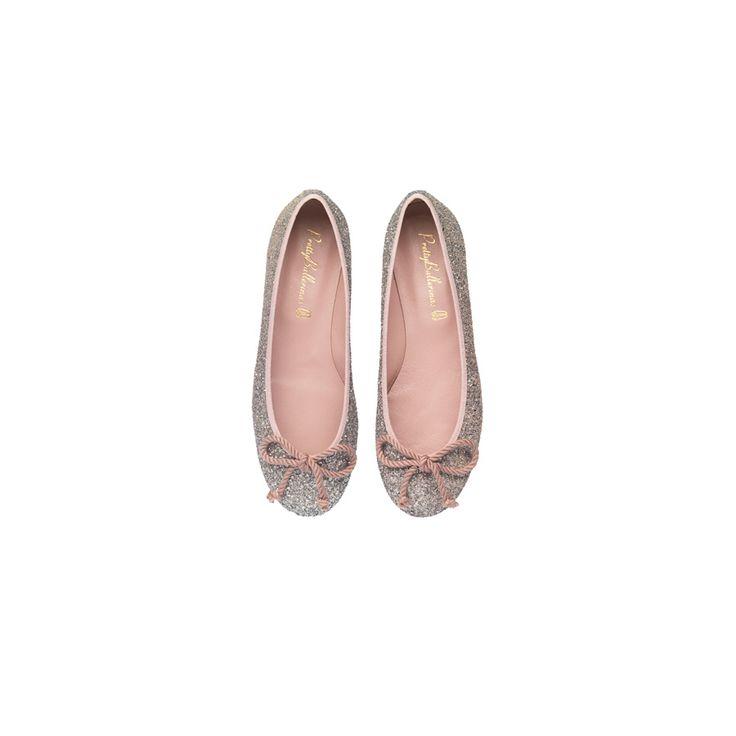 shopping de zapatos de tacón y su equivalente plano para el día de tu boda: bailarinas con purpurina, de Pretty Ballerinas
