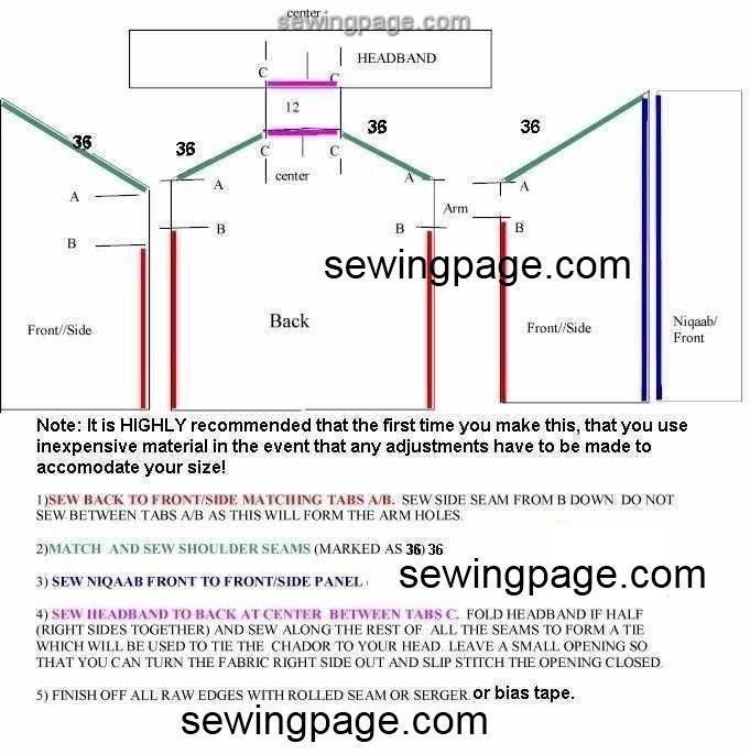 Pin by Zauyah Sudin on Tudung dan telekung | Sewing, Sewing patterns ...