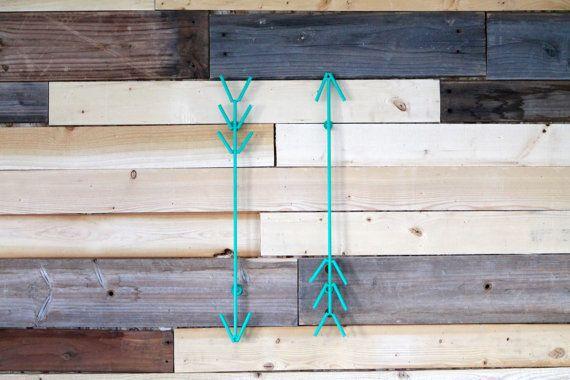Green Bohemian Arrows Modern Metal by PetrykowskiArtworks on Etsy