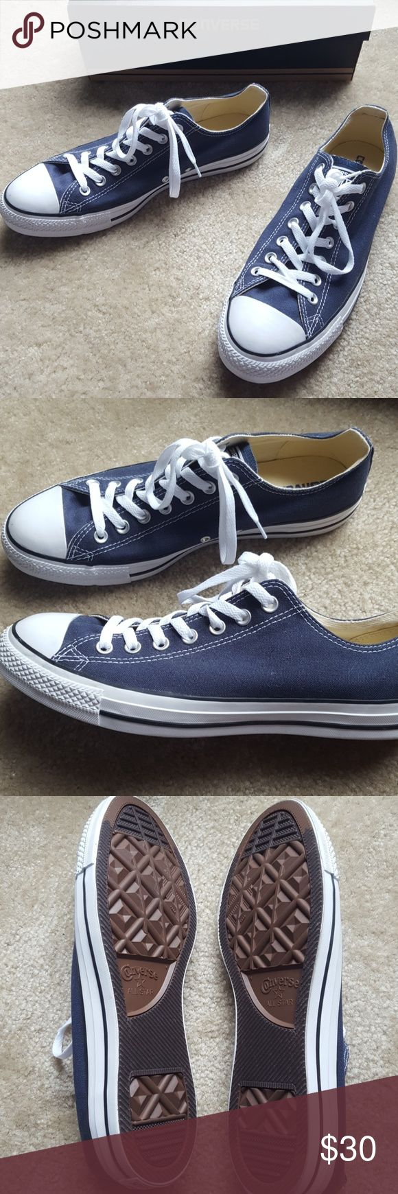 NWT Unisex Navy Converse Chuck Taylor Men sized 10.5, women sized 12.5. Comes with original packaging. Converse Shoes Sneakers