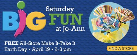 Jo-Ann Fabrics: Kid-Friendly Make It-Take It Event (Today Only from 2-3PM) + In-Store Coupons – Hip2Save