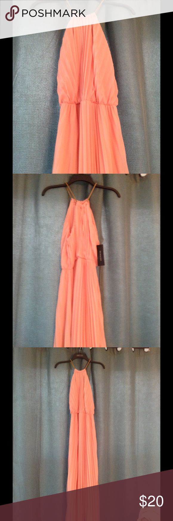 Coral maxi dress New with tags Dresses Maxi