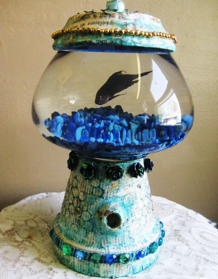 bubble gum machine fish tank