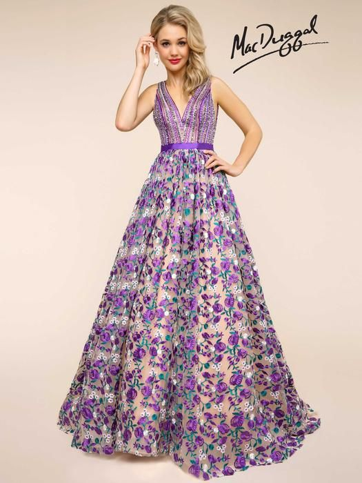 Ball Gowns by Mac Duggal 66055H Mac Duggal Ball Gowns Lillian's Prom Boutique