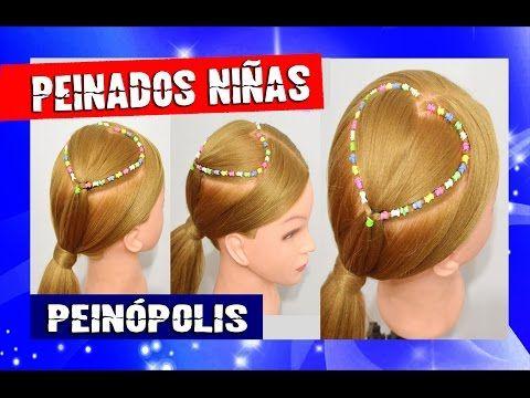 (2) Peinados para Niñas Faciles y Rapidos - Trenza corazón con ligas para principiantes - YouTube