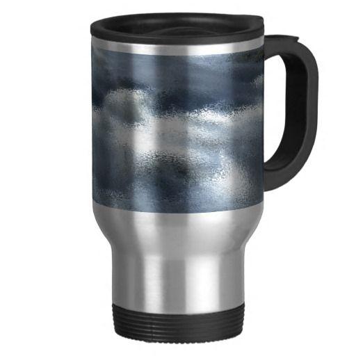 White Water Rapids Abstract Mug