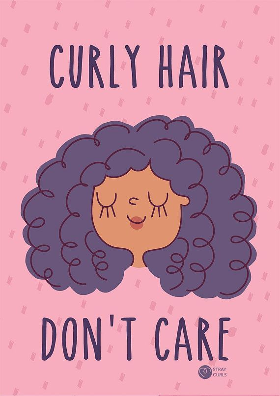 Curly Hair Don T Care Curly Illustration Curly Hair In 2019