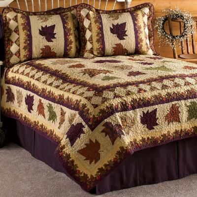 Fall.maple leaf quilt.--really like this one!
