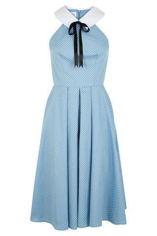BLACK FRIDAY SALE: The Maverick Dress - Blue Polkadot | Tara Starlet