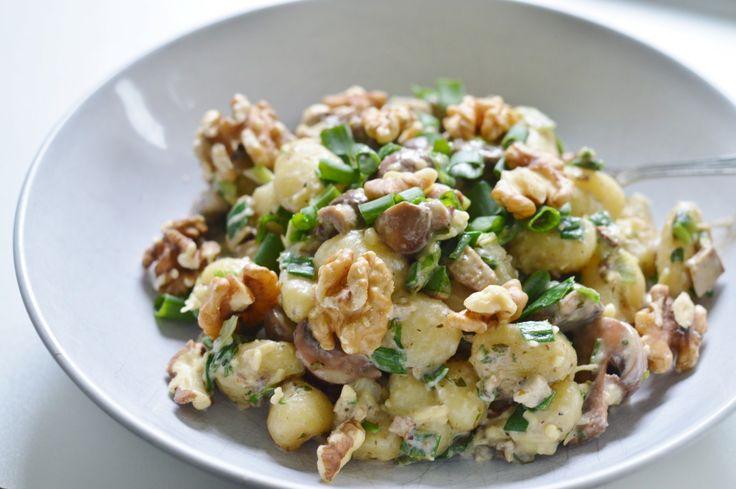 Walnuss-Pilz-Gnocchi-Pfanne vegan