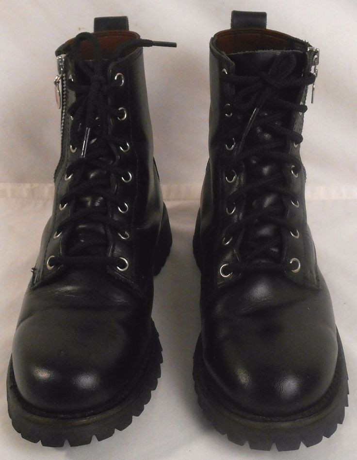 RED WING Boots Womens Leather Shoes Black Size Sz EU38/UK6.5/US 7.5 Wide #1668 #Redwings #Motorcycle