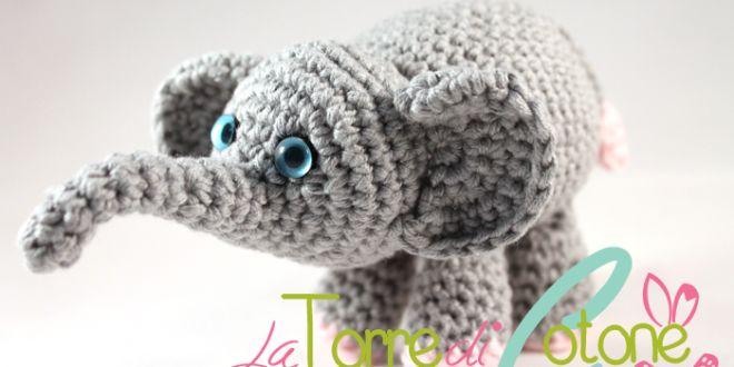 Animali all'uncinetto: schema Elefantino amigurumi