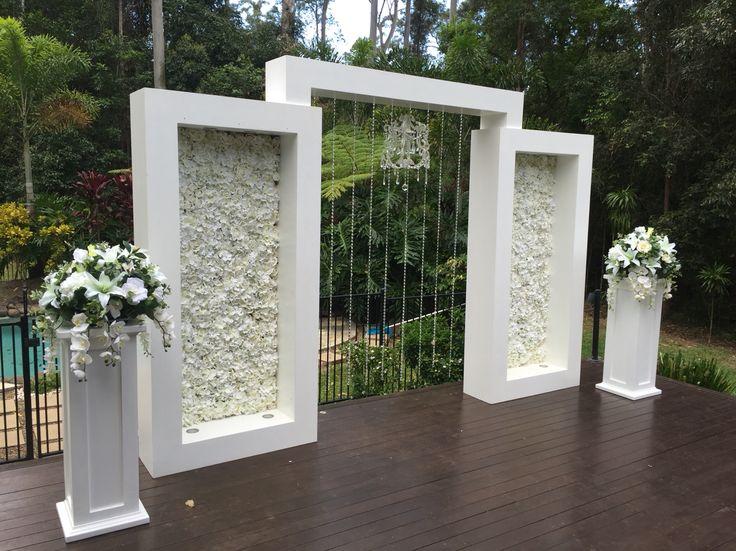 Arch flower wall