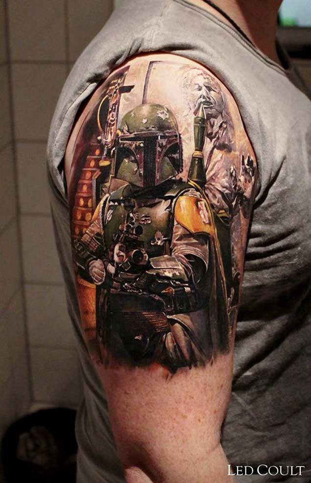 9194c84bb 50 Amazing Star Wars Tattoo Designs | Tattoos from Film ✓ | Star wars tattoo,  War tattoo, Boba fett tattoo
