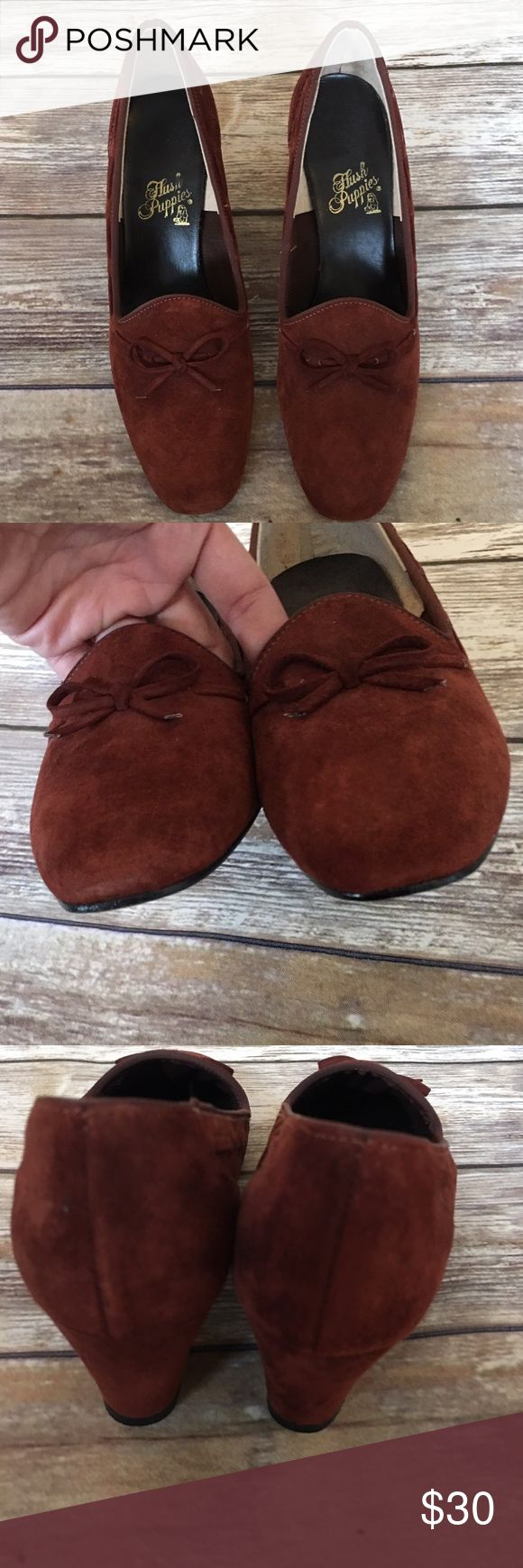 """🔴Hush Puppies Faux Suede Shoes Hush Puppies Faux Suede Shoes EUC. Heel height 2.25"""" Hush Puppies Shoes"""
