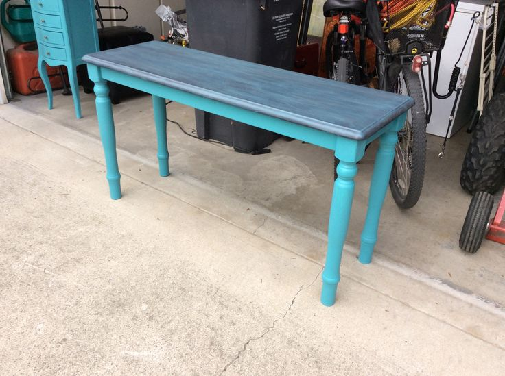Superior Paint Co. Blue Lagoon country desk