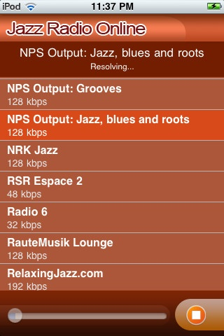 Jazz Radio online is your final destination to listen to classic Jazz music on you iPhone. Just one tap on your favorite music station and we will connect you to your favorite Jazz music...!