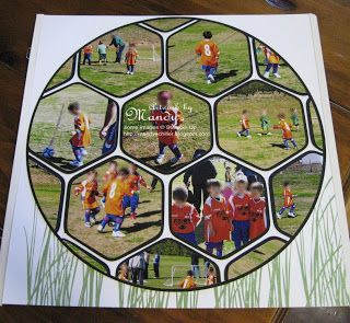 soccer scrapbook page