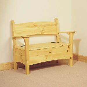 inside bench plans | Deacon Storage Bench Plans, Woodworking Plans and Patterns by ...