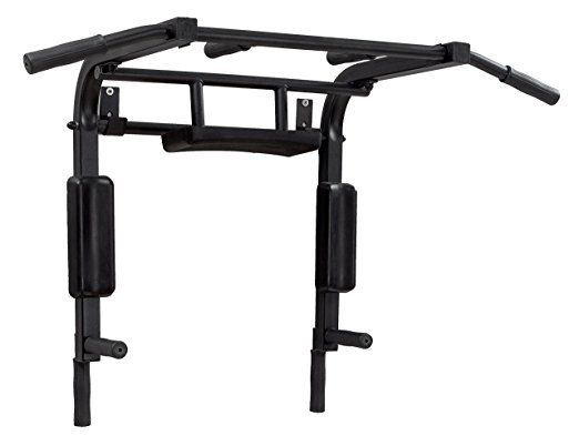 Chin up bar wall mounted Pull up bar home Power tower exercise equipment Vertical Knee Raise Dip Station Workout bar equipment: Amazon.co.uk: Sports & Outdoors