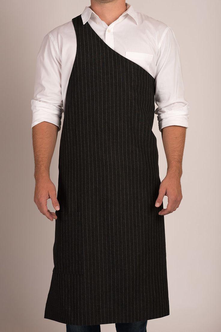 Butcher Apron: Pinstripe Grey or Pinstripe Black