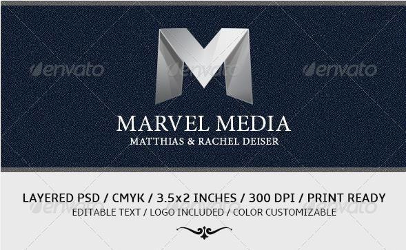 Desain Kartu Nama Perusahaan - Gold And Black Business Card