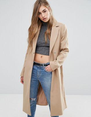 Miss Selfridge - Manteau mi-long avec ceinture