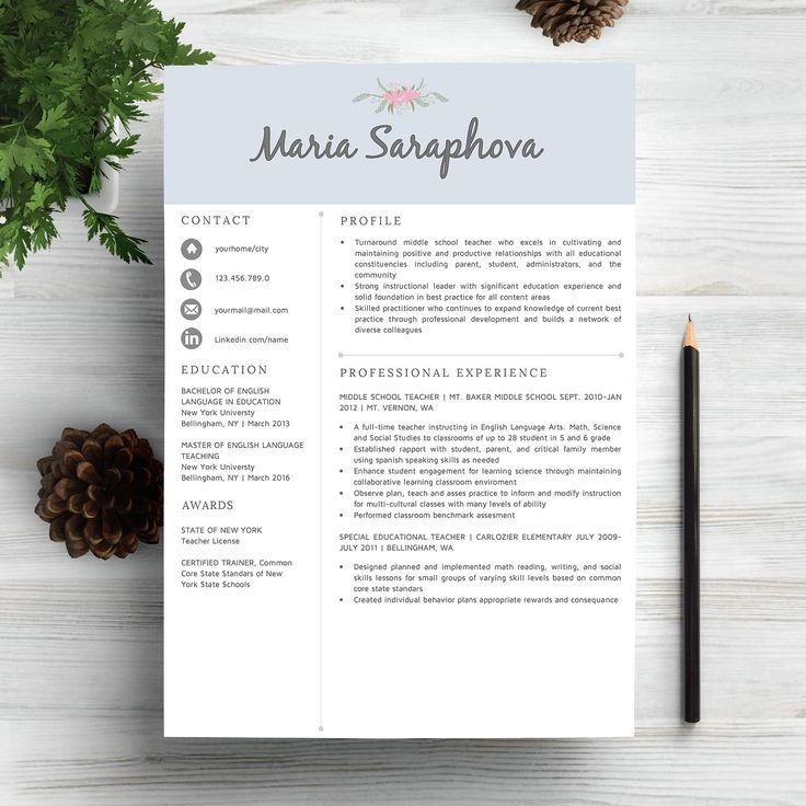 Creative Resume Template CV by Indograph on