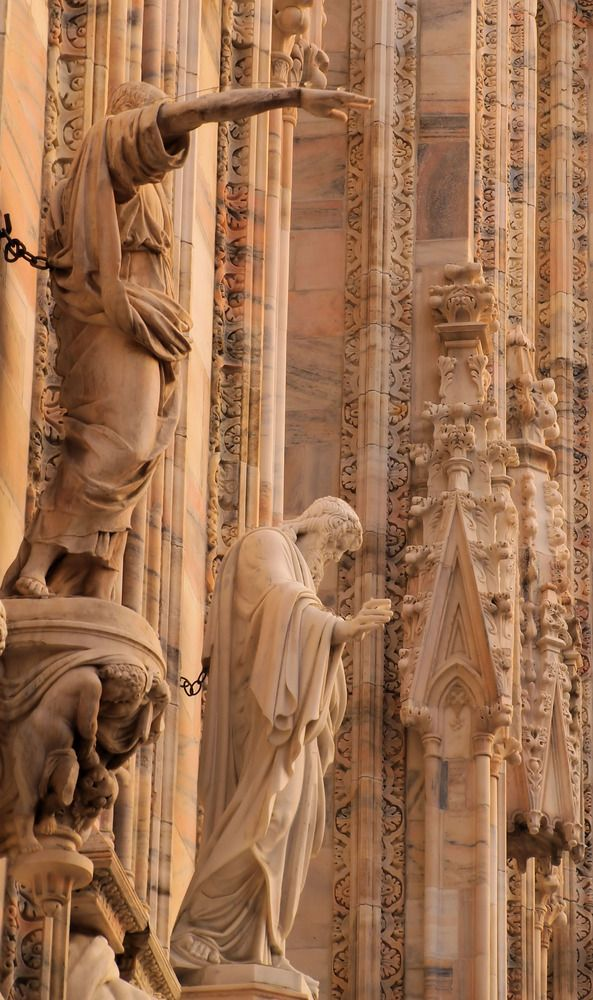 Details of Milan Cathedral(Duomo di Milano), Italy, province of Milan, Lombardy
