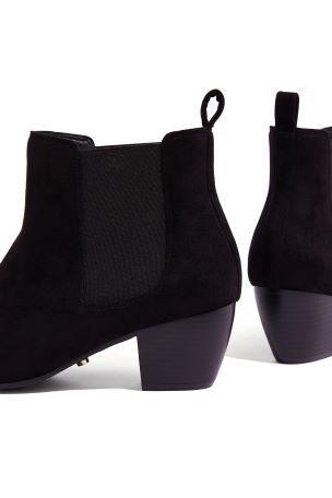 3ff515c3b752 Oasis Black Camilla Cuban Heel Boot