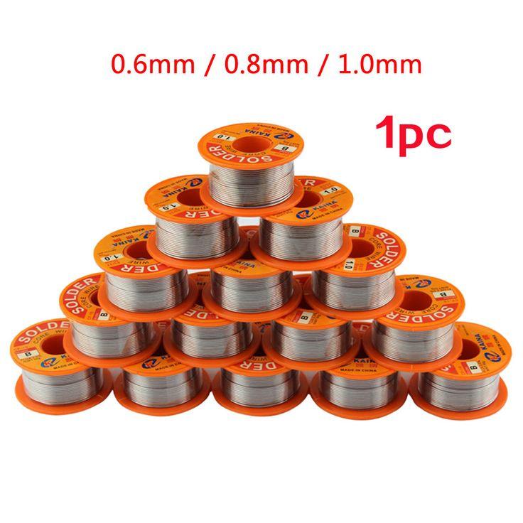 New 50g 63/37 Tin Lead Reel Rosin Core Flux Electrical Solder Soldering Welding Wire 0.6mm 0.8mm 1.0mm #Affiliate