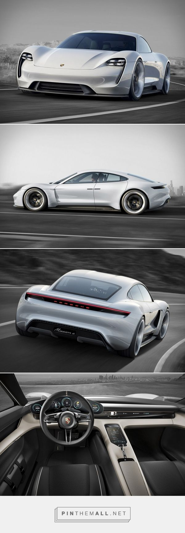 Porsche Mission E Concept - electric 4-door awesomeness!  #RePin by AT Social Media Marketing - Pinterest Marketing Specialists ATSocialMedia.co.uk