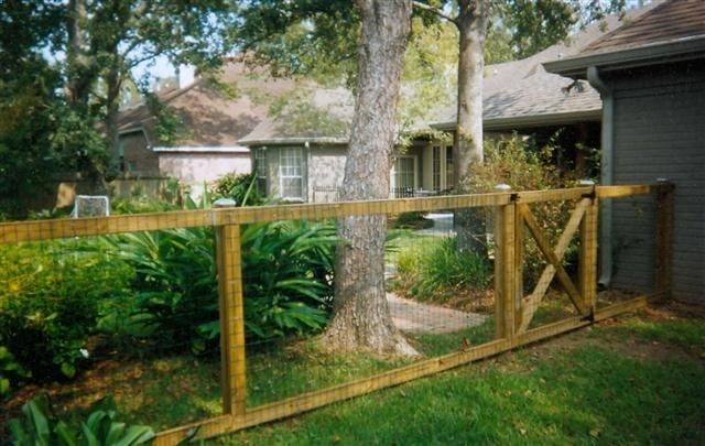 Wood And Wire Fence Backyard Idea 39 S Pinterest Side