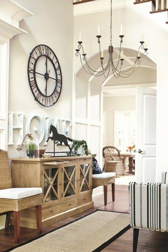White on white.... beautiful. #Decorating, Neutrals, Foyer, Dining, Hallway