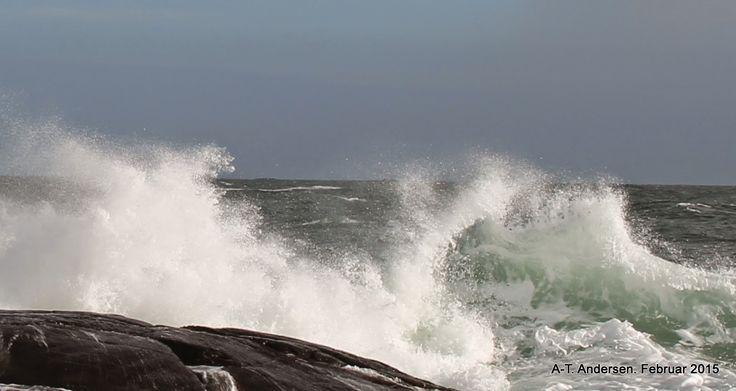 Naturen i bilder: Morsomme bølger å se på i dag.