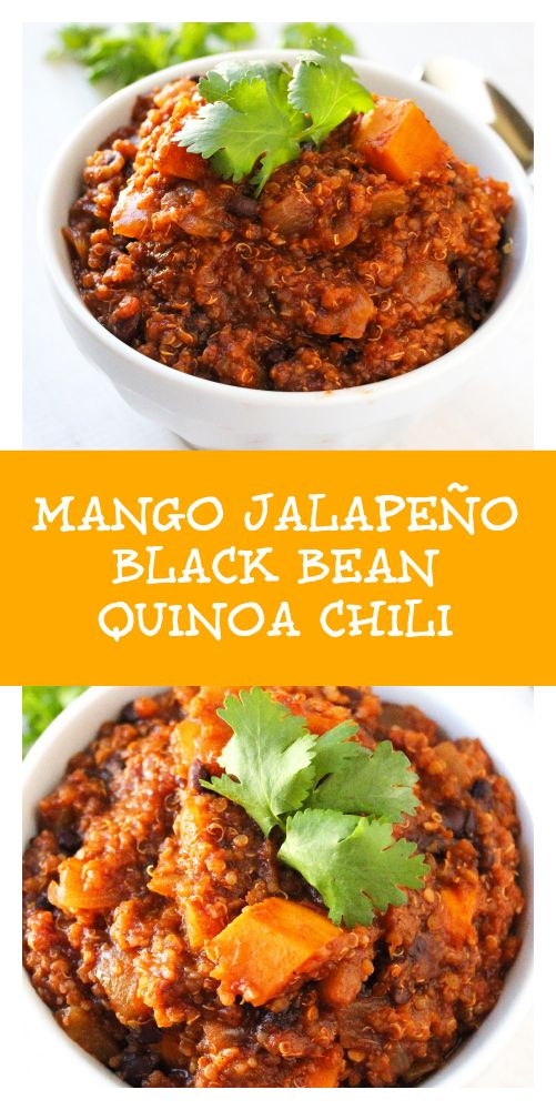 ... chili loaded with black beans, sweet potatoes, quinoa, tomatoes