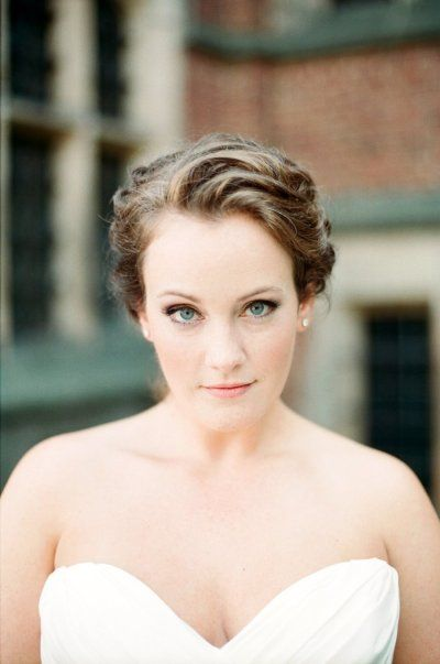 Clean makeup and a wavy updo= perfect Photography by Jodi Miller Photography / jodimillerphotography.com